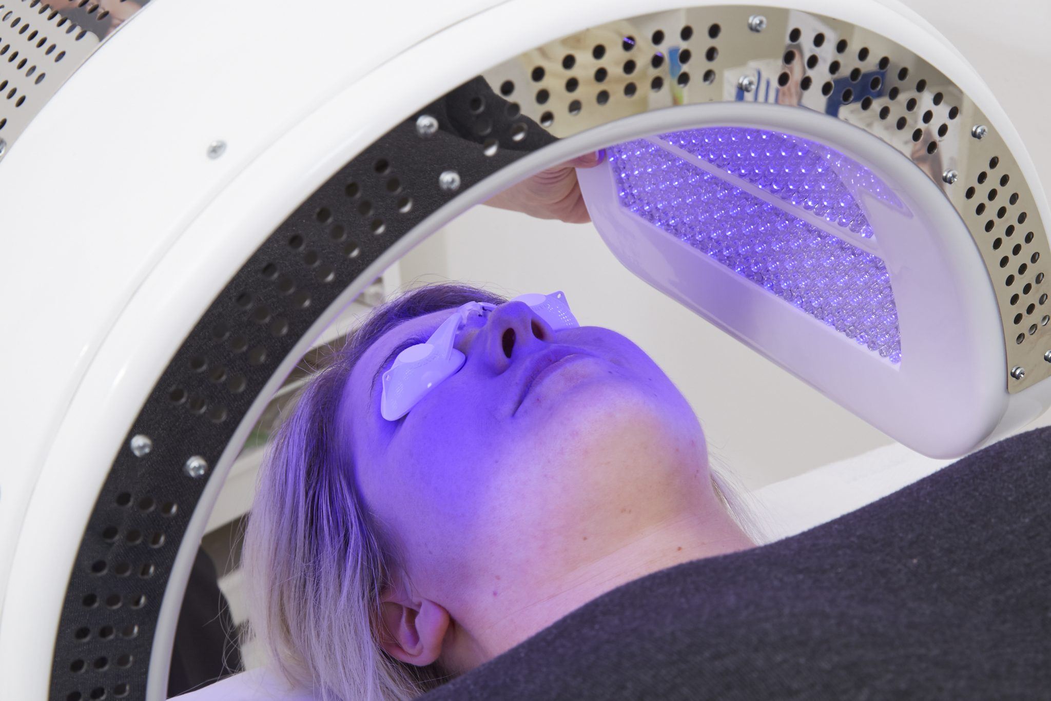 Dermalux LED phototherapy skin treatment at MySkyn Clinic in Bradford